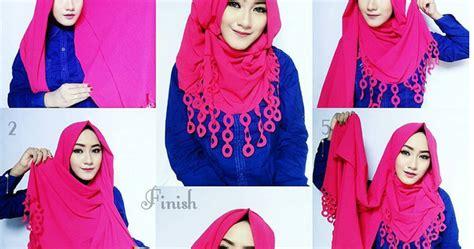 tutorial hijab pashmina rawis kusut tutorial hijab pashmina bahan kusut 20 tutorial hijab