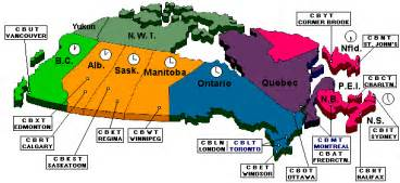 time zones of canada map canadian timezones