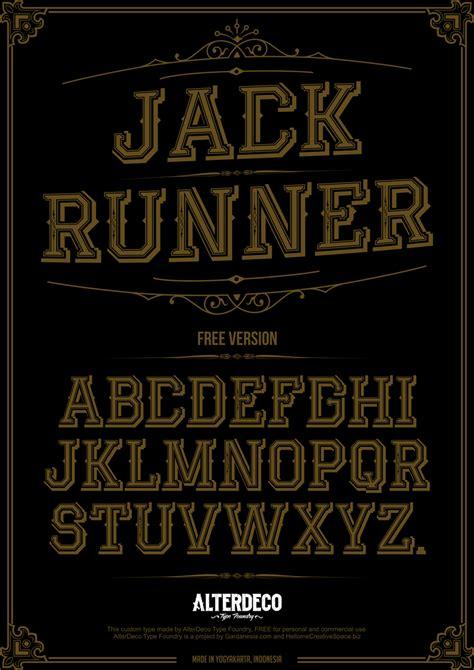 dafont vintage jack runner font dafont com