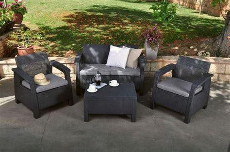 Keter Patio Furniture Corfu Lounge Set Keter