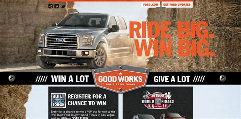 Pbr Ford Truck Giveaway - built ford tough sweepstakes