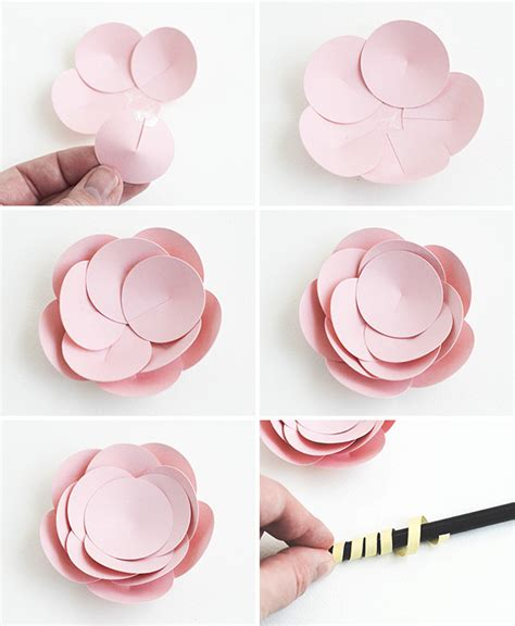 How To Make A 3d Flower Out Of Construction Paper - make easy paper flowers 5 fast tutorials on craftsy