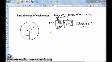 Segment Lengths In Circles Worksheet Answers by Geometry Worksheet Arc Length Sector Area Segment Area