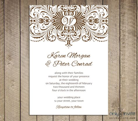 free printable wedding invitation templates e