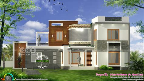 4 bhk modern contemporary home 1800 square kerala home design and floor plans