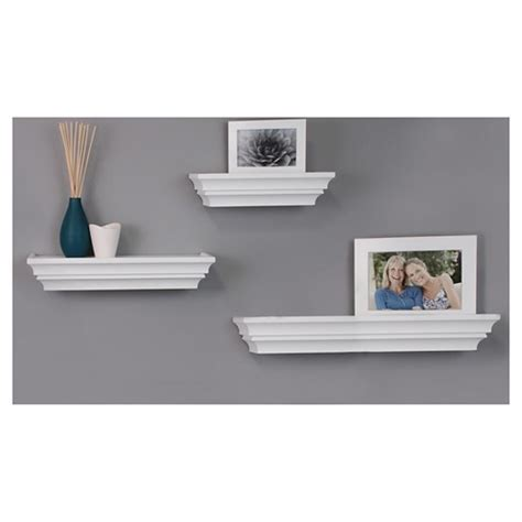 Ledge Shelf White by Decorative Wall Ledge Shelf Set Of 3 White Target