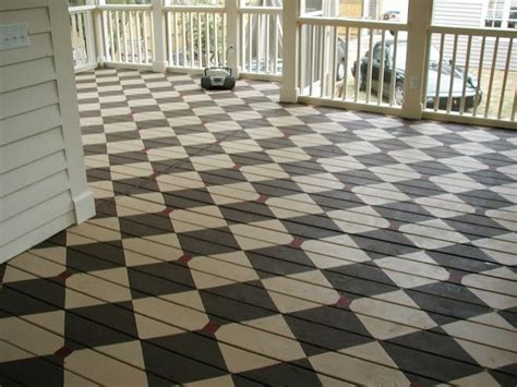 Painted Porch Floor by Painted Porches Painted Porch Floor Flower Garden