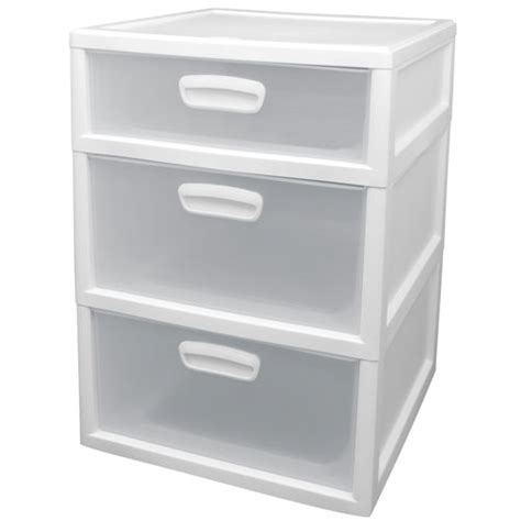 sterilite 3 drawers set white walmart