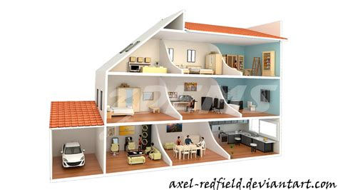 can you buy a house with section 8 house crossection render by axel redfield on deviantart
