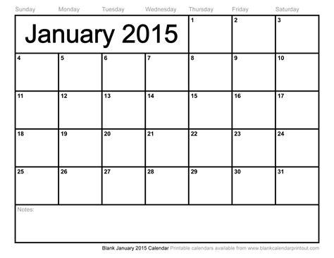Blank Calendar To Print Blank January 2015 Calendar To Print