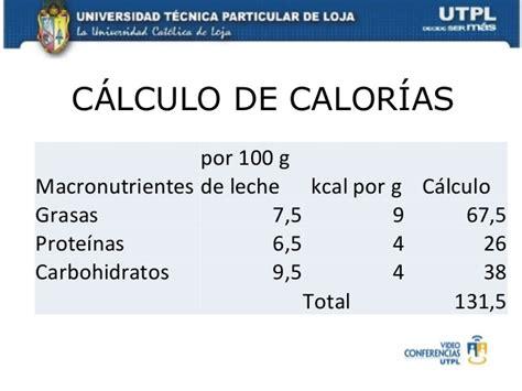 calculo de calorias  bimestre nutricion dietetica  higiene de lo