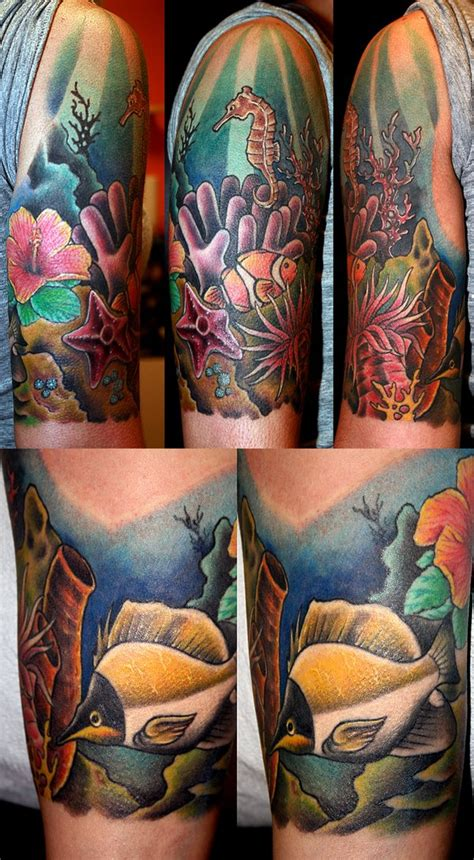 coral reef tattoo coral reef by mrtat2 on deviantart tatoo