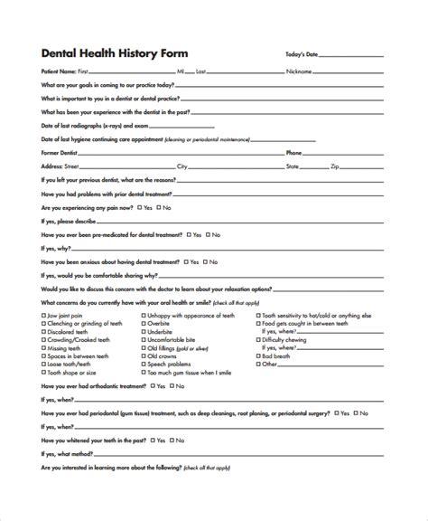 10 Health History Templates Sle Templates History Template