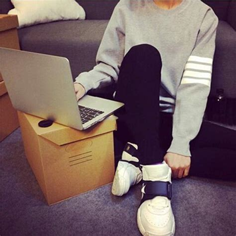 Jaket Korea Hoodie H 20 fashion korean stripes sleeve hoodies sweater