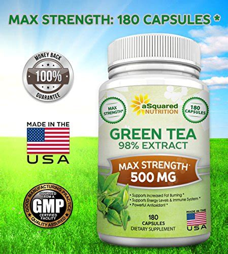 Supplement For Detox From Caffeine by Green Tea Extract Supplement With Egcg 180 Capsules