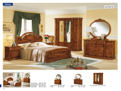 bedroom in italian milady walnut camelgroup italy classic bedrooms bedroom