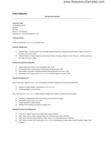football coaching resume template skill resume professional coach resume sle find a