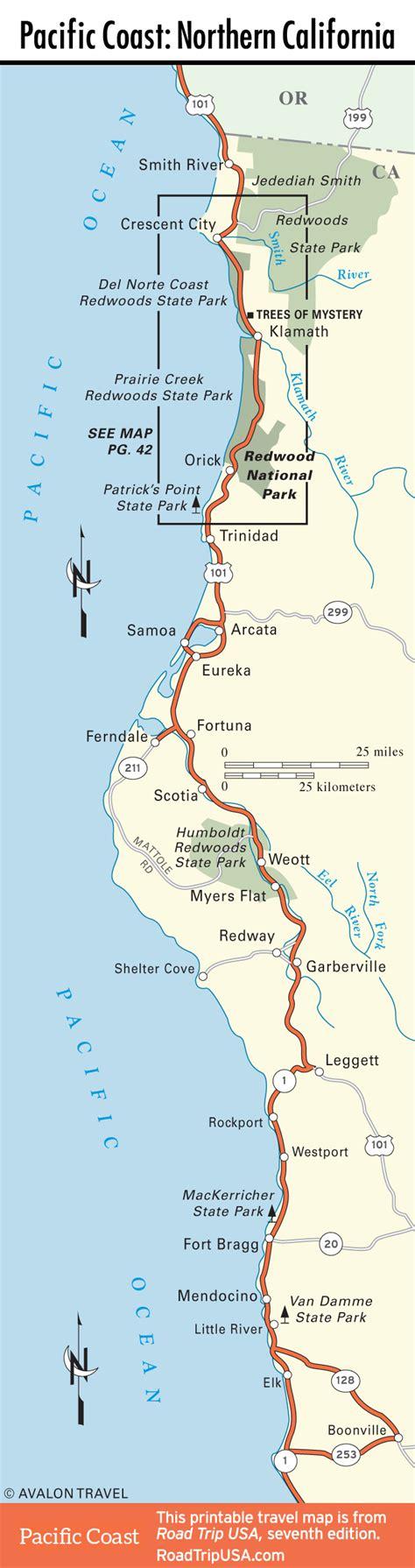 california map northern coast california road trip usa