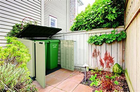 keter store   max plastic outdoor garden storage shed beige  brown house  garden