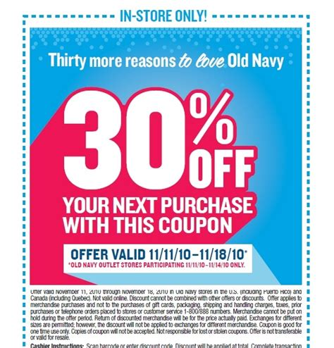 old navy coupons nov canadian daily deals old navy 30 off printable coupon