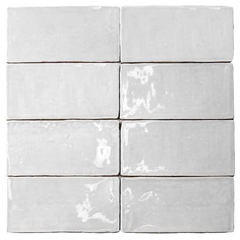 splashback tile catalina white 3 in x 6 in x 8 mm ceramic wall subway tile catalina3x6white