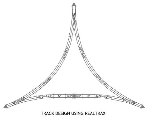 realtrax layout software wye track designs using realtrax o o gauge railroading