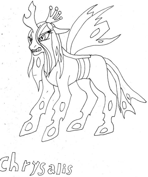 my little pony queen chrysalis coloring pages mlp queen chrysalis coloring pages coloring pages
