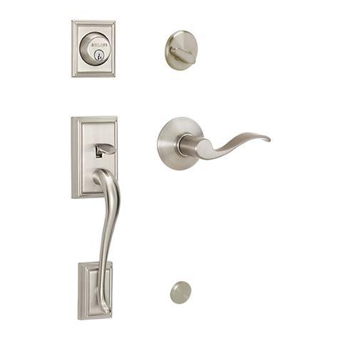 schlage front door handle schlage accent residential single lock front door