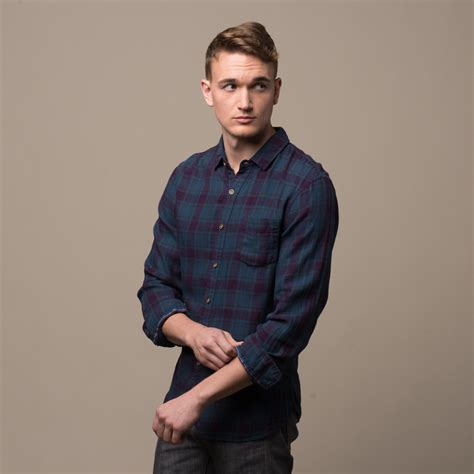 Jachs Ny Plaid Shirt Branded indigo dipped light twill plaid shirt s jachs ny touch of modern
