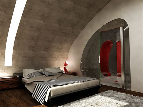 futuristic bedroom ideas inserted structure modern interior design renovation