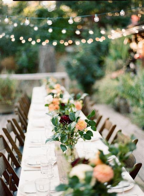 woodland wedding table decor ideas deer pearl flowers