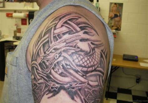 dragon and cross tattoos 50 best celtic tattoos for shoulder