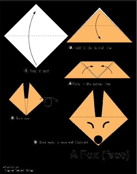 Cool Origami Projects - fox easy origami for origami