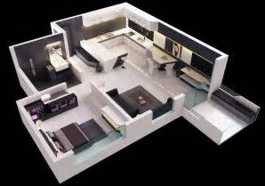 One Bedroom House Plans by 25 One Bedroom House Apartment Plans