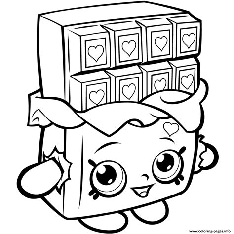 shopkins coloring pages cupcake queen shopkins cheeky chocolate coloring free shopkins