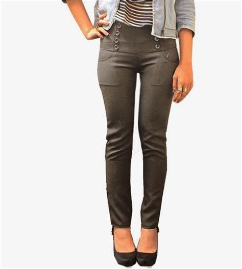 Adore Celana Panjang Korea Stretch adore celana panjang wanita model high waist br abu abu