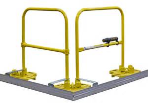 safety handrails construction roof fall protection guardrail safetyrail 2000 bluewater