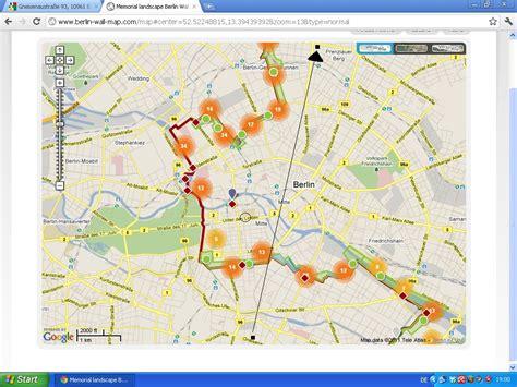 berlin wall map frau doktor doctor on the move again