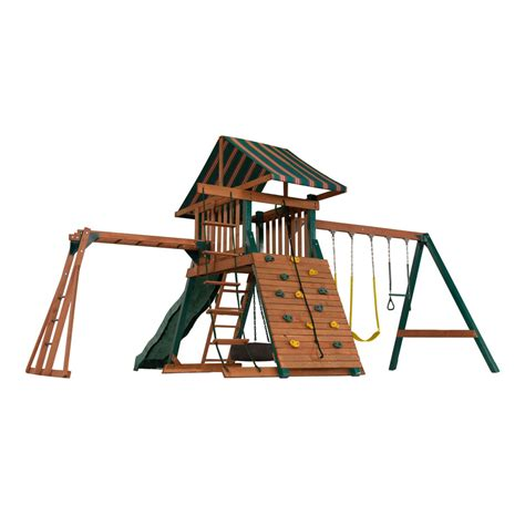 lowes wooden swing sets enlarged image