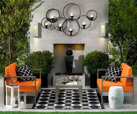 Outdoor Home Wall Decor by Accessories Small Patio Decorating Ideas Photos Outdoor