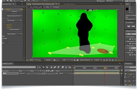 tutorial after effect green screen three exles of using the 3d camera tracker in after