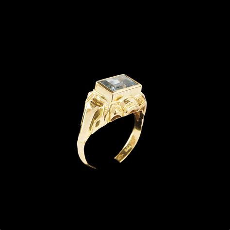 topaz and gold ring expertissim