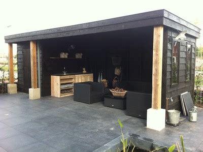 veranda zwart hout overkapping veenendaal viegen handelsonderneming