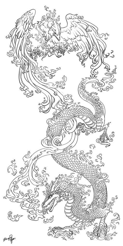 tattoo phoenix and dragon dragonphoenix tattoocommission by yuumei on deviantart