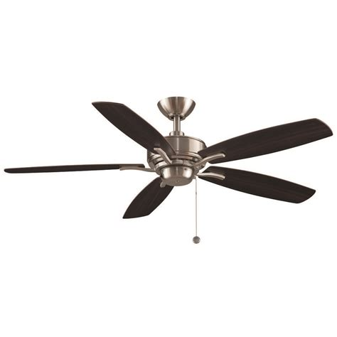 brushed nickel ceiling fan without light fanimation fans aire delux brushed nickel ceiling fan