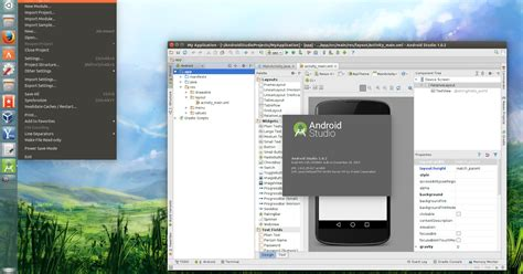 java swing android ubuntu 15 04 to get global menu and hud support by default