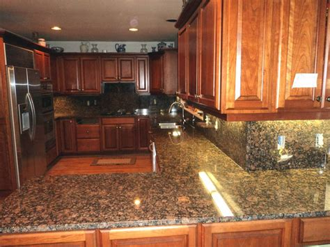 Baltic Brown Countertop by V Hurley Baltic Brown Granite Kitchen Countertop