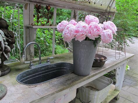 garden potting bench with sink acorn lane vintage living potting benches