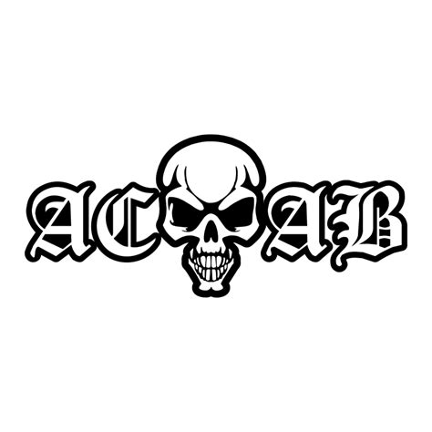 aufkleber acab skull