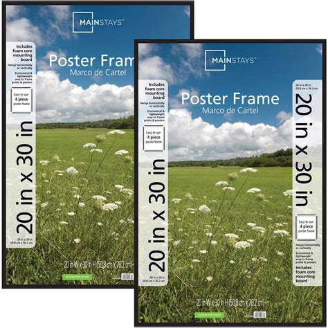 20x30 Picture Frame On Wall by Set Of 2 Mainstays 20x30 Basic Poster Picture Frame